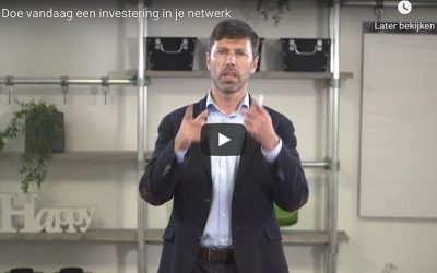 Doe vandaag een goede investering in je netwerk – doe deze challenge